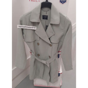 on feet shots of classic stylish design Details about ABERCROMBIE & FITCH WOMENS DRAPEY TRENCH COAT JACKET MINT  SIZE MEDIUM