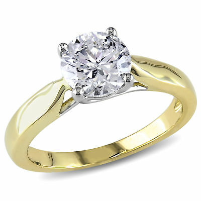 Amour 1 1/2 CT TW Diamond Solitaire Engagement Ring in 14k Yellow Gold