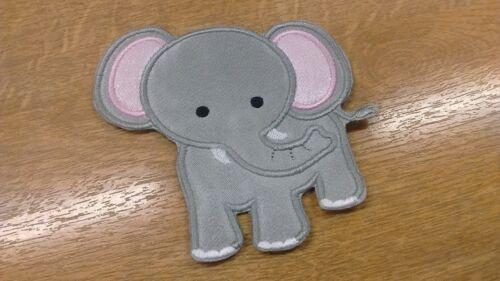 1 x Cute Elephant Sew /'n/' Iron On Patch Motif