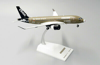 stand JC Wings LH2161 Bombardier CS100 Test Livery C-GWYD in 1:200 Scale