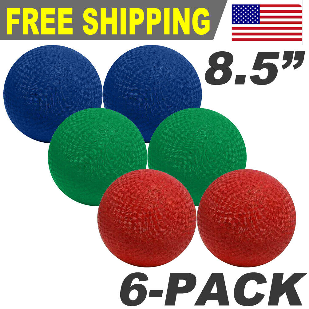 blue purple green red yellow NDN LINE 5 Inch Playground Balls 5 inches