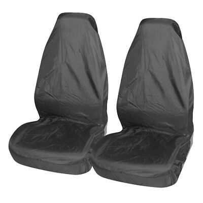2 x Fronts Extra Heavy Duty Driver Passenger Black Pair Waterproof Car Front Seat Covers Protectors For Vauxhall Astra MK4
