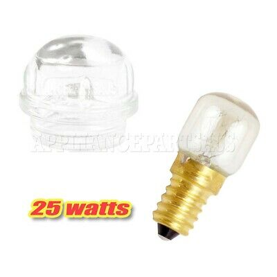 Details about  OVEN LAMP LIGHT COVER & 25WATT LIGHT GLOBE SUITS BLANCO, WESTINGHOUSE, MIELE