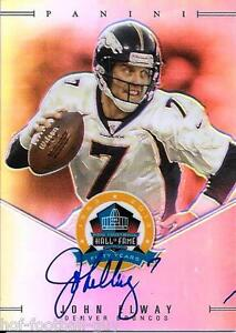 Rare John Elway Signed 2013 Panini Spectra Hall Of Fame
