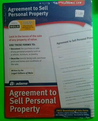 Personal Law Agreement To Sell Personal Property Ebay