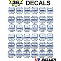36 Waterproof Home Security Alarm System Warning Vinyl Sticker Decal Signs