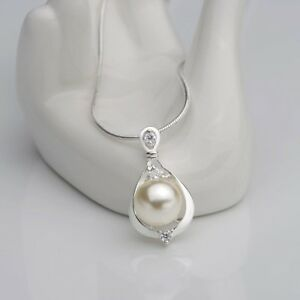 Women-Fashion-Crystal-Rhinestone-Simulated-Pearl-Drop-Pendant-Necklace-Jewelry