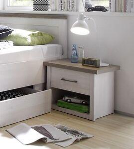 nachtkommode luca nachttisch nako pinie wei landhausstil modern ebay. Black Bedroom Furniture Sets. Home Design Ideas
