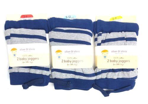 Bébé Garçons Survêtement Tout-petits de détente 100/% coton 3-12 Mois Pack De 2 Nouveau-né