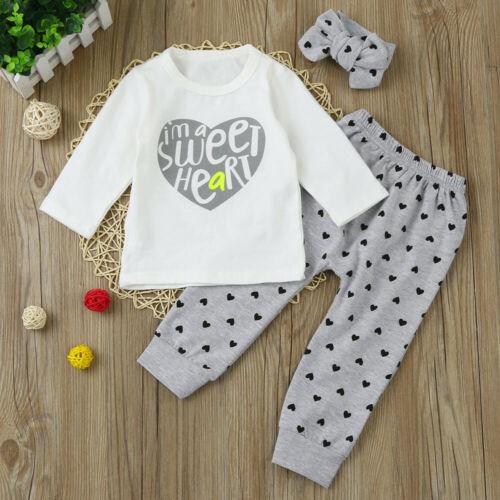 Newborn Baby Girl Floral Tops Shirt Dress Pants Dot Leggings Outfits Clothes UK