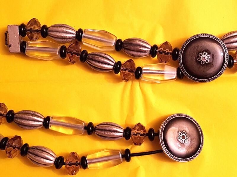 Gü48-boutique Große Perlen Und Metall Zum Kleid Rock Pulli Damen Gürtel 115 Cm