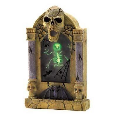 LED Skeleton Spider Web Tomb Graveyard Stone COBWEB TOMBSTONE Haunted House Prop