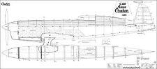CAUDRON 450 RAFALE. Rennflugzeug. Frankreich Bauplan