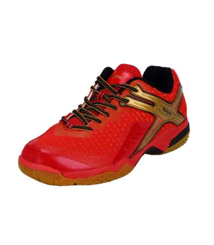 Indoor Badminton Squash Table Tennis Court Shoes Kumpoo KH-221 Red//Gold Pair
