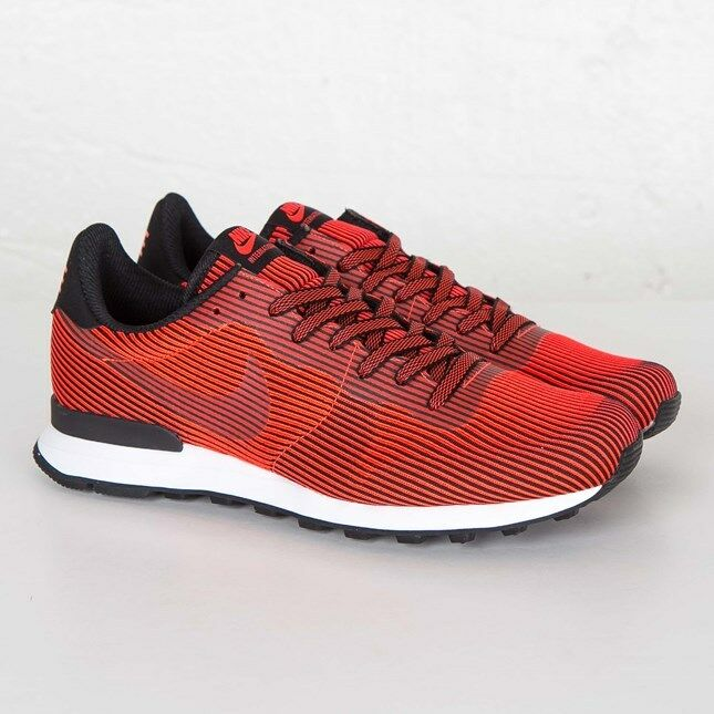 Nike Internationalist KJCRD M QS Nero/Bright Crimson Red 829344-006 Uomo Size 8