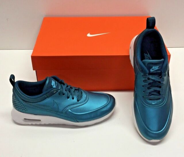 Nike Air Max Thea SE Metallic Dark Sea Running Trainer Sneakers Shoes Womens 9