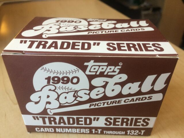 1990 Topps Traded Baseball Complete Factory Set NEW in Box - #1-132 - 132 Cards