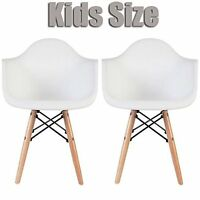 Heavy Duty Armchairs Chair W/ Molded Plastic Seat For Kids Room - White Set Of 2