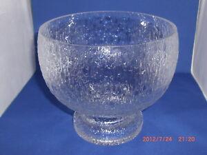 Iittala Kekkerit Large Serving Crystal Bowl Timo Sarpaneva Design Finland Ebay