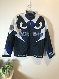 Vintage-Bad-Boy-Racing-Jacket-All-Over-Print-Heavily-Embroidered-Patches-90s-2YK