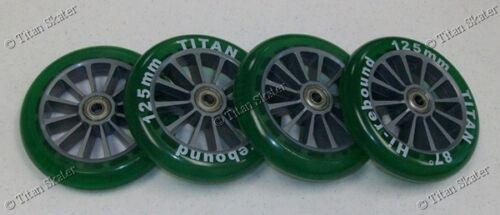 4 Four 125mm Wheels with ABEC-9 Bearings for TITAN FS 532 RAZOR A3 Kick Scooter