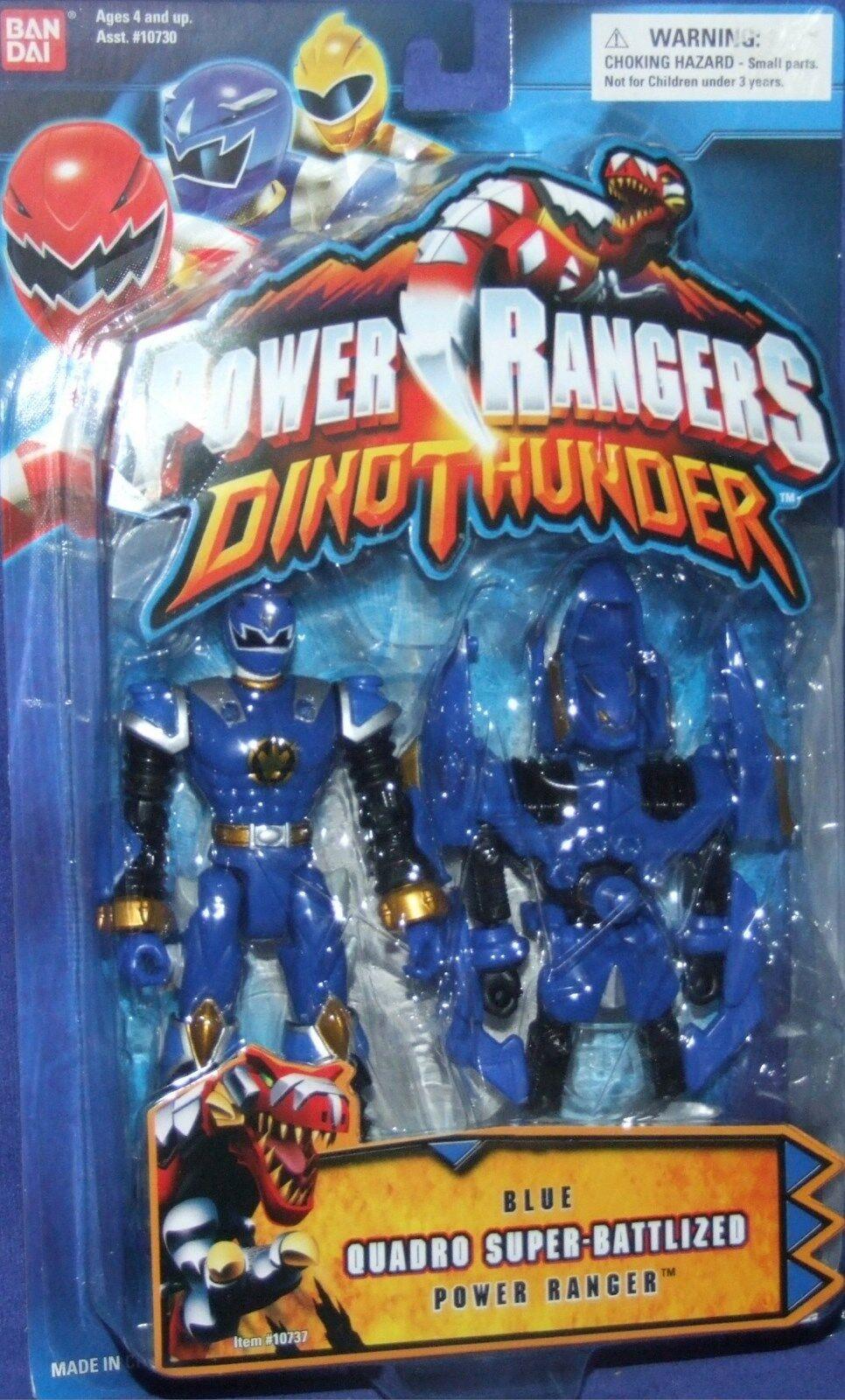 Power Rangers Dino Thunder Blau Quadro-Battlized Ranger New Factory Sealed 2004