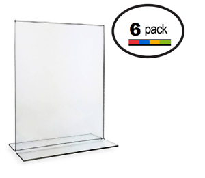 8.5 x 11 Clear Acrylic Bottom Load Plastic Display Sign Holder Frames 6