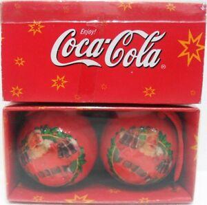Coca-Cola-2-DECORAZIONI-per-ALBERO-di-NATALE-Palle-di-Natale