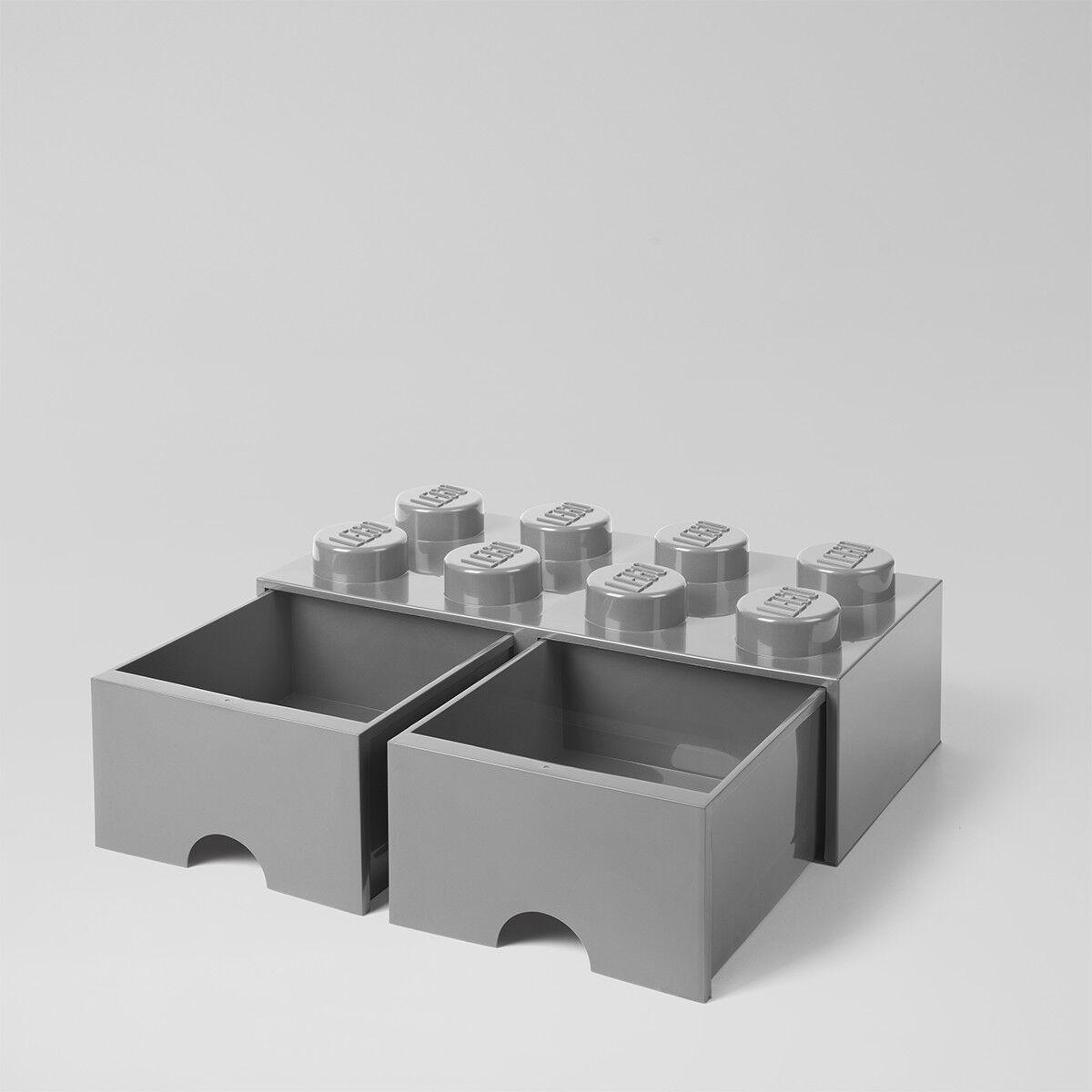 LEGO Storage Brick Stein mit Schublade stapelbar Drawer 8 Grau grau