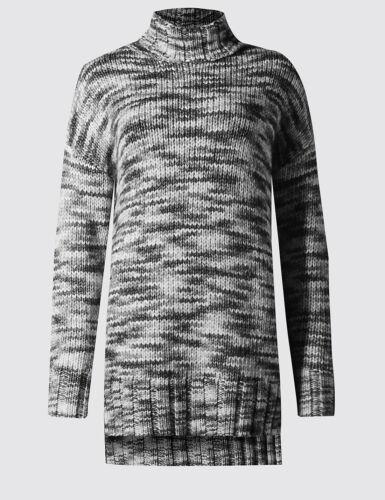 bianco Space collo lana L Chunky New imbuto con Sz maglione grigio dye s M Autograph aWz4S