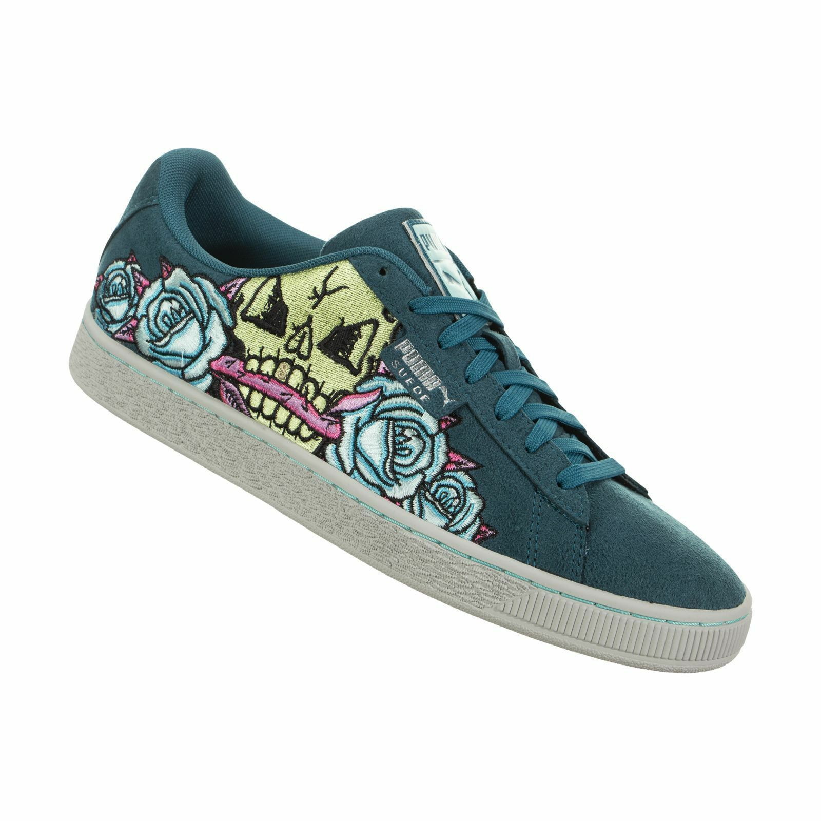 PUMA - 368358 03 - COURT CLASSIC SKULL PATCH - Men's shoes - TEAL - Size 10