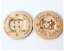 2 Large Wooden Handmade With Love Buttons 4 Hole Sewing Craft 60MM UK SELLER