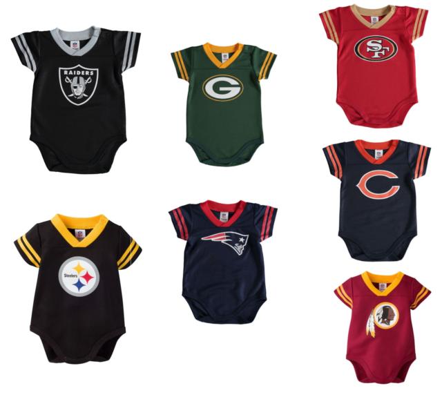87ea695ca NFL Team Apparel Chicago Bears Infant Baby One Piece Bodysuit 0-3 ...