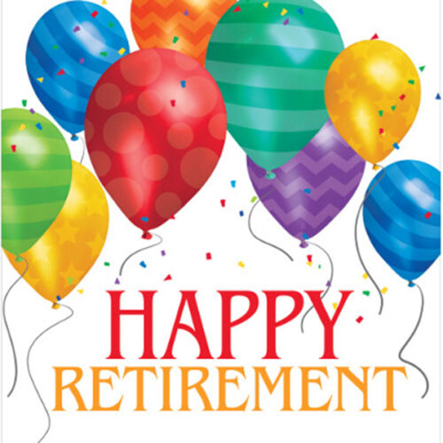 Retirement Leaving Party Assorted Tableware Napkins Plates Cups Tablecover