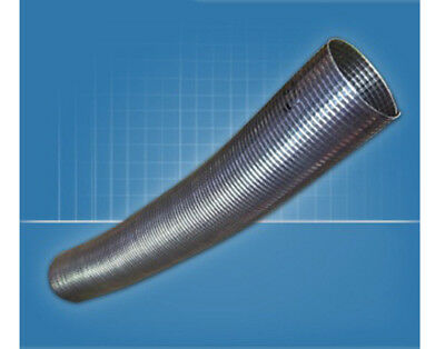 """1 1//2/"""" Flexible Stainless Polylock Exhaust Pipe 1mtr x I.D 38mm"""