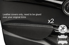 Punto Blanco Cuero Apoyabrazos puerta frontal 2X Cubiertas para BMW Mini Cooper 14-17 F55