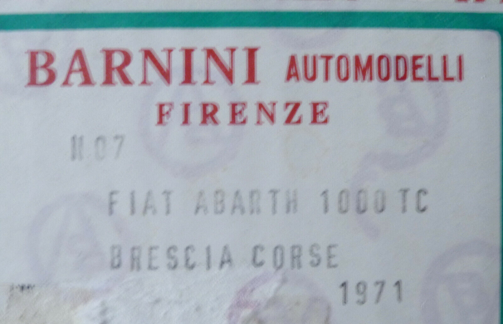 FIAT ABARTH 1000TC BRESCIA CORSE - 1971  -   BARNINI 1 43