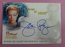 STAR TREK WOMEN OF VOYAGER AUTOGRAPH CARD SA1 JERI RYAN AS SEVEN OF NINE 9