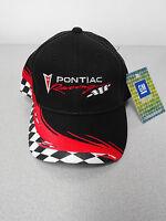 Gm Licensed Pontiac Racing Black/red Checkered Hat