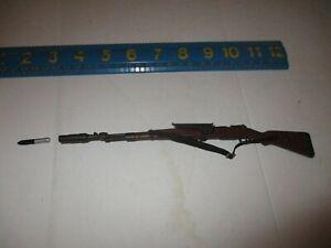 """1:6 Ultimate Soldier WWII German K98 Rifle 12/"""" GI Joe Dragon BBI DiD WW2"""