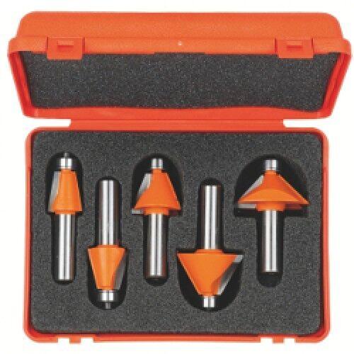 Set CMT di 5 frese per smussare - attacco (S) mm12,7 Cod.  836.501.11