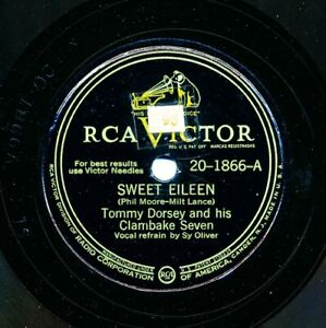 TOMMY DORSEY and his Clambake Seven on 1946 RCA Victor 20-1866 - Sweet Eileen