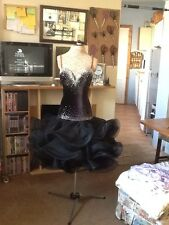 "Ballroom/Latin Competition DANCE dress ""BLACK VELVET ROSE"""