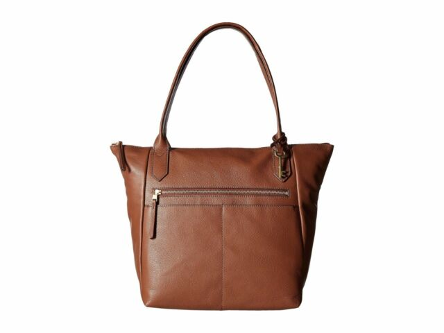 a3e24d391 Fossil Fiona Tote Large Brown Leather Handbag Zb7269210 W/tags for ...