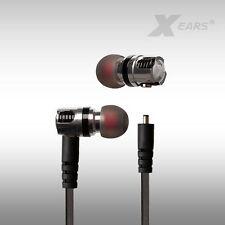 In Ear Kopfhörer Unique Earphones Xears® in silber absteckbares Flachbandkabel