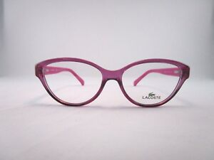 0cba9a2e1449 Image is loading Lacoste-L2764-513-Optical-Frame-Pink-Clear-Cateye-