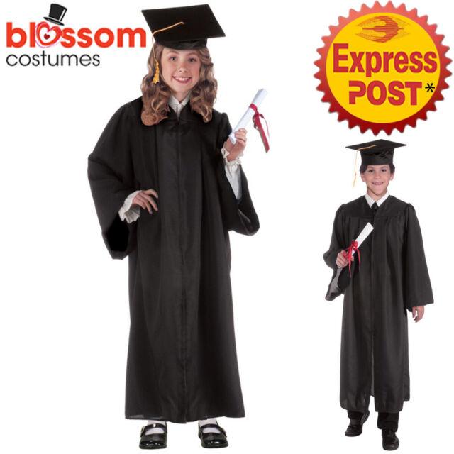 CK1548 Graduation Robe Gown Child Boy Girl School Kindergarten Nursery Costume