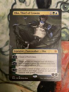 MTG-Oko-Thief-of-Crowns-BORDERLESS-Throne-of-Eldraine-Magic-the-Gathering