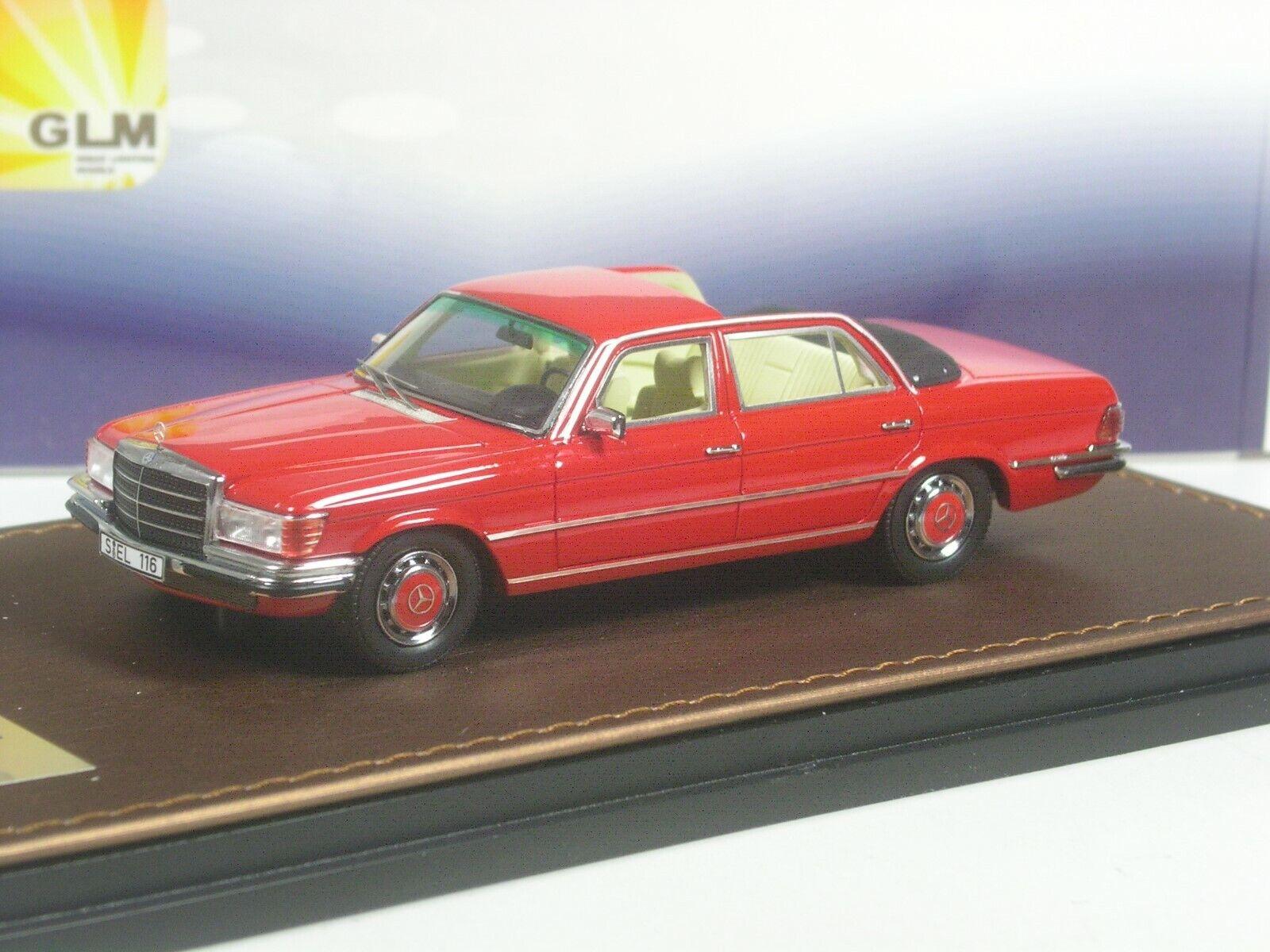 (Ki - 05 - 19) GLM Mercedes - Benz 280 Cell - Randall Wright w116 Rojo 1  43 cajas