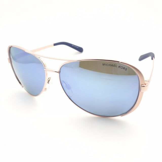 a61c5ffb3b Michael Kors Chelsea 5004 100322 Rose Gold Blue Polarized New Authentic  Sunglass